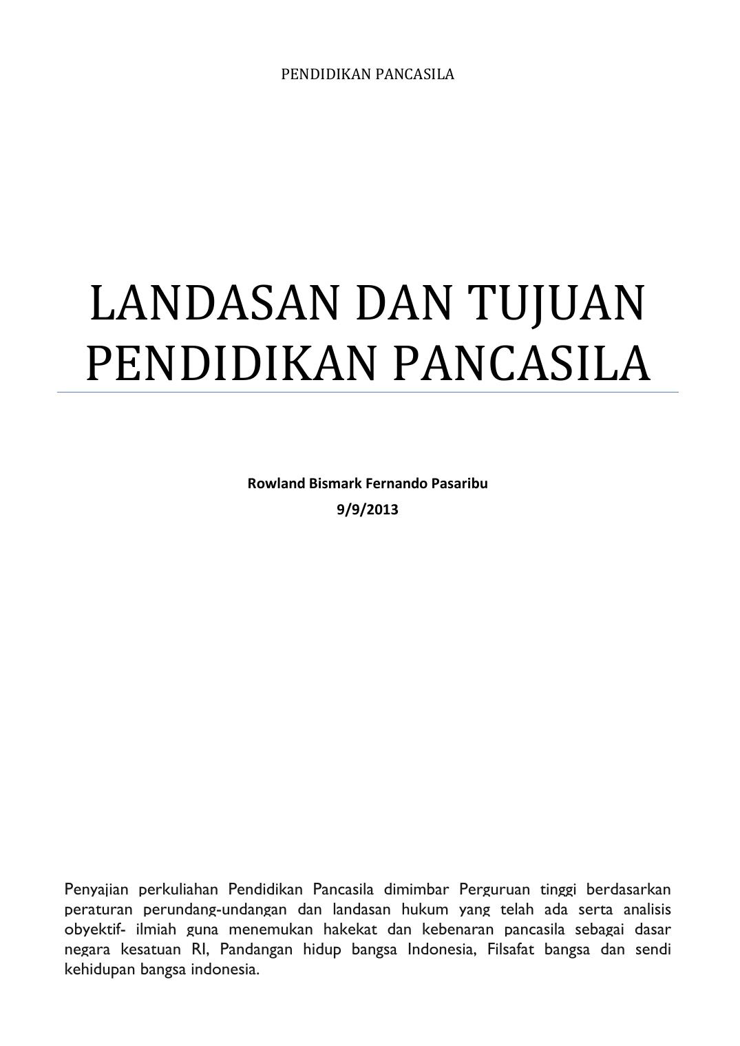 Bab 01 Landasan Dan Tujuan Pendidikan Pancasila