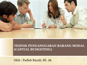 (CAPITAL BUDGETING) Oleh