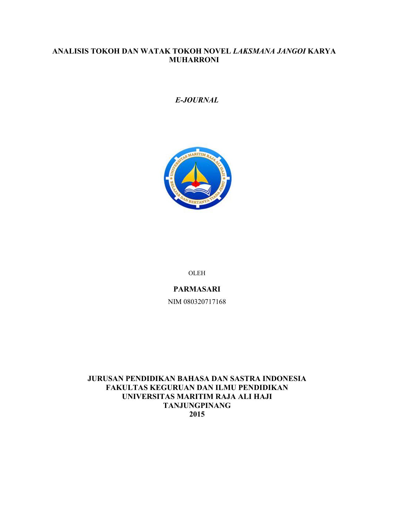 Contoh Skripsi Analisis Karakter Tokoh Pada Novel Contoh Soal Dan Materi Pelajaran 8
