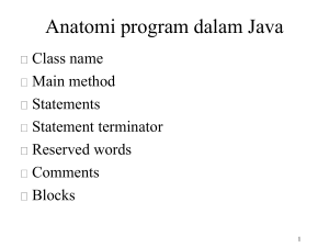 Anatomi program dalam Java