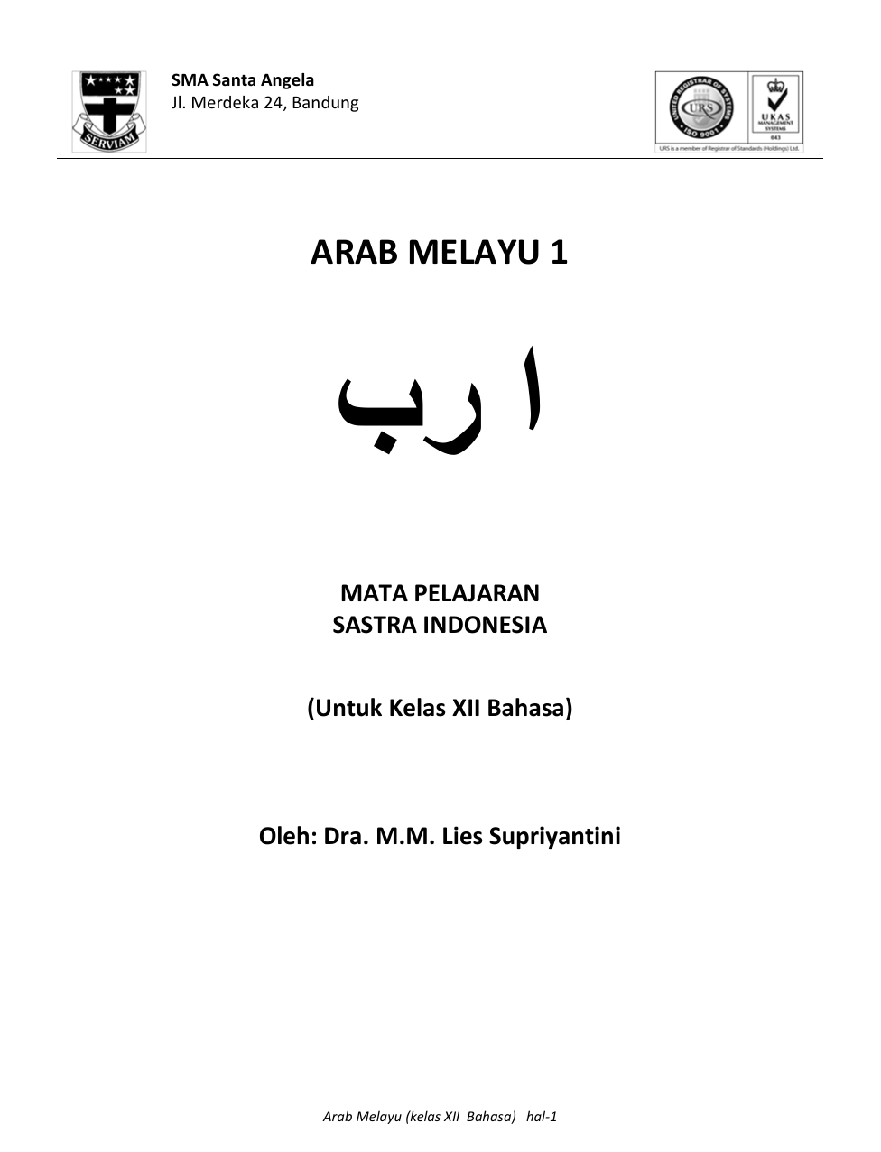 Arab Melayu Kelas 4 Guru Ilmu Sosial