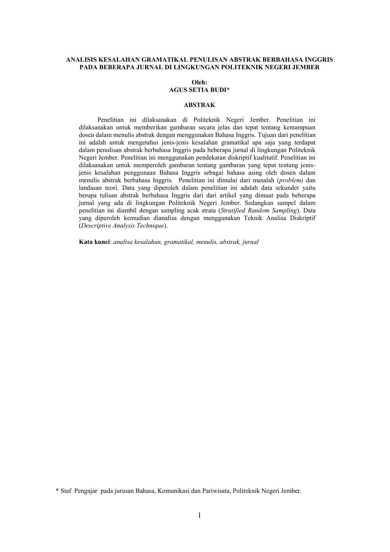 Laporan Hasil Penelitian Open Access Jurnal Politeknik Negeri