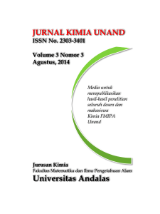 Tim Editorial Jurnal Kimia Unand - Fakultas MIPA Universitas Andalas