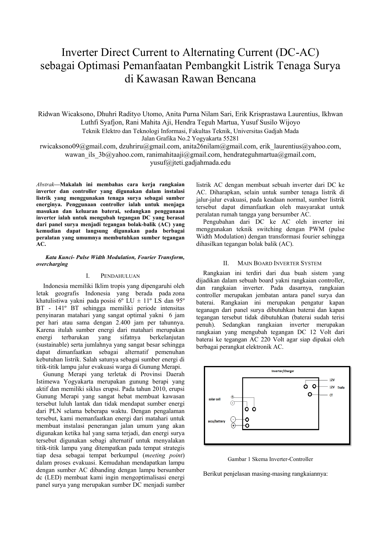 Inverter Direct Current To Alternating Current Dc