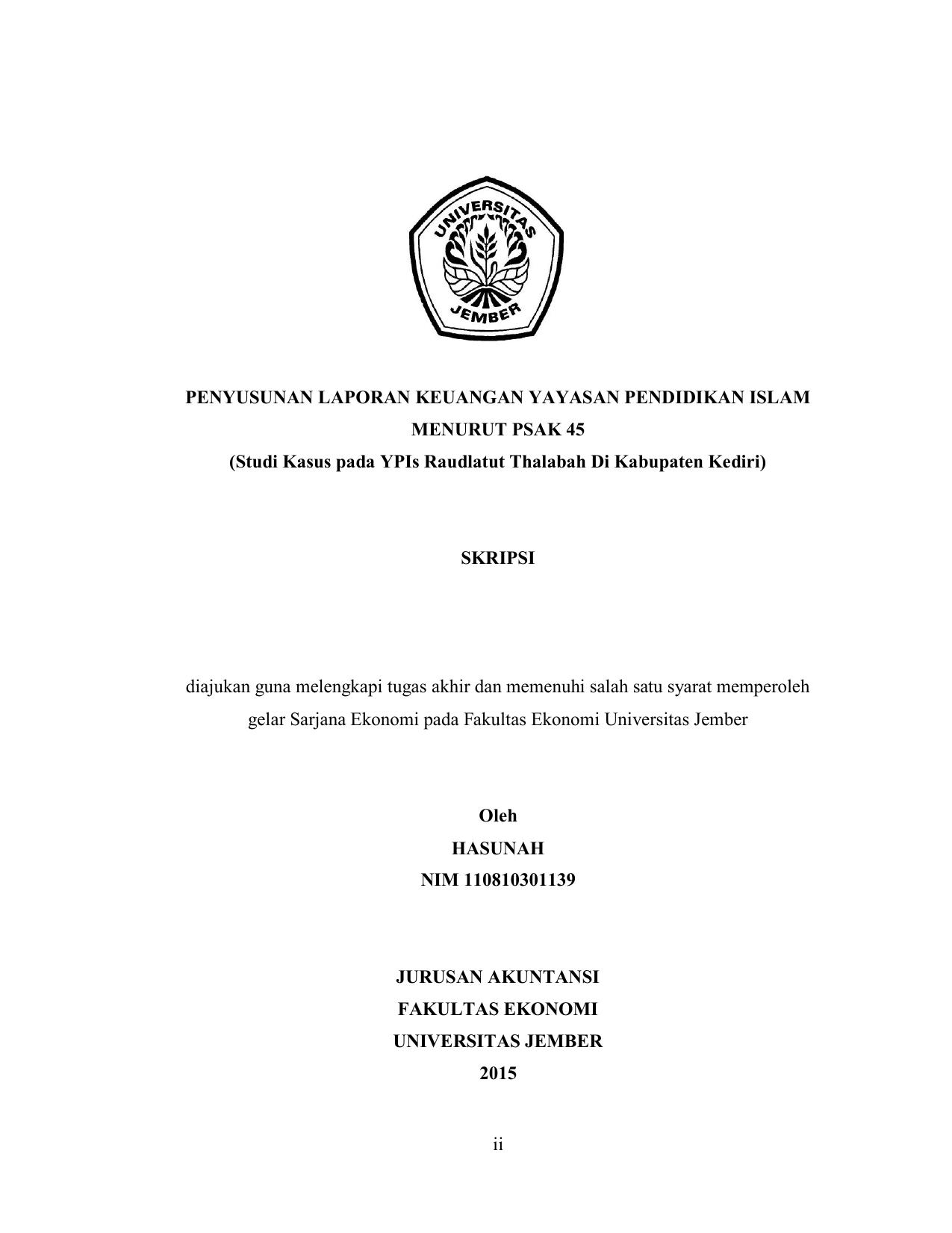 Ii Penyusunan Laporan Keuangan Yayasan Pendidikan