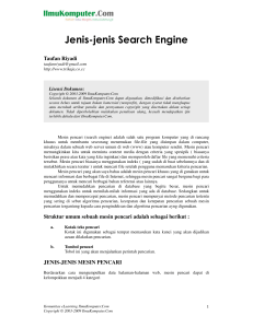 Jenis-jenis Search Engine