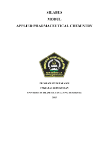 silabus modul applied pharmaceutical chemistry