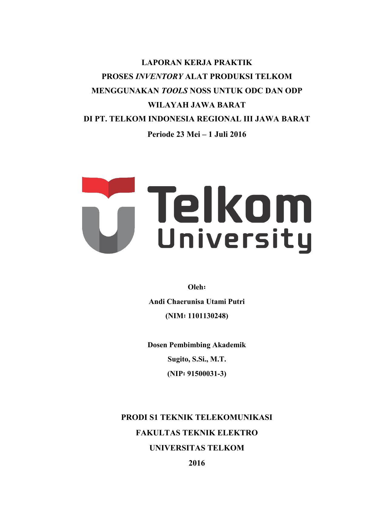 Contoh Laporan Pkl Teknik Informatika Di Telkom Kumpulan Contoh Laporan