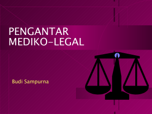pengantar mediko-legal