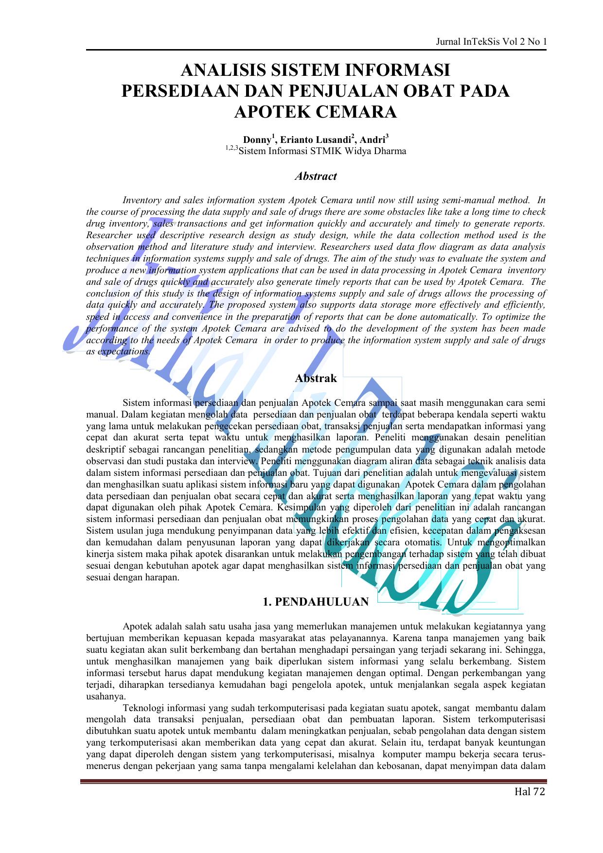 Analisis sistem informasi persediaan dan penjualan obat pada ccuart Images