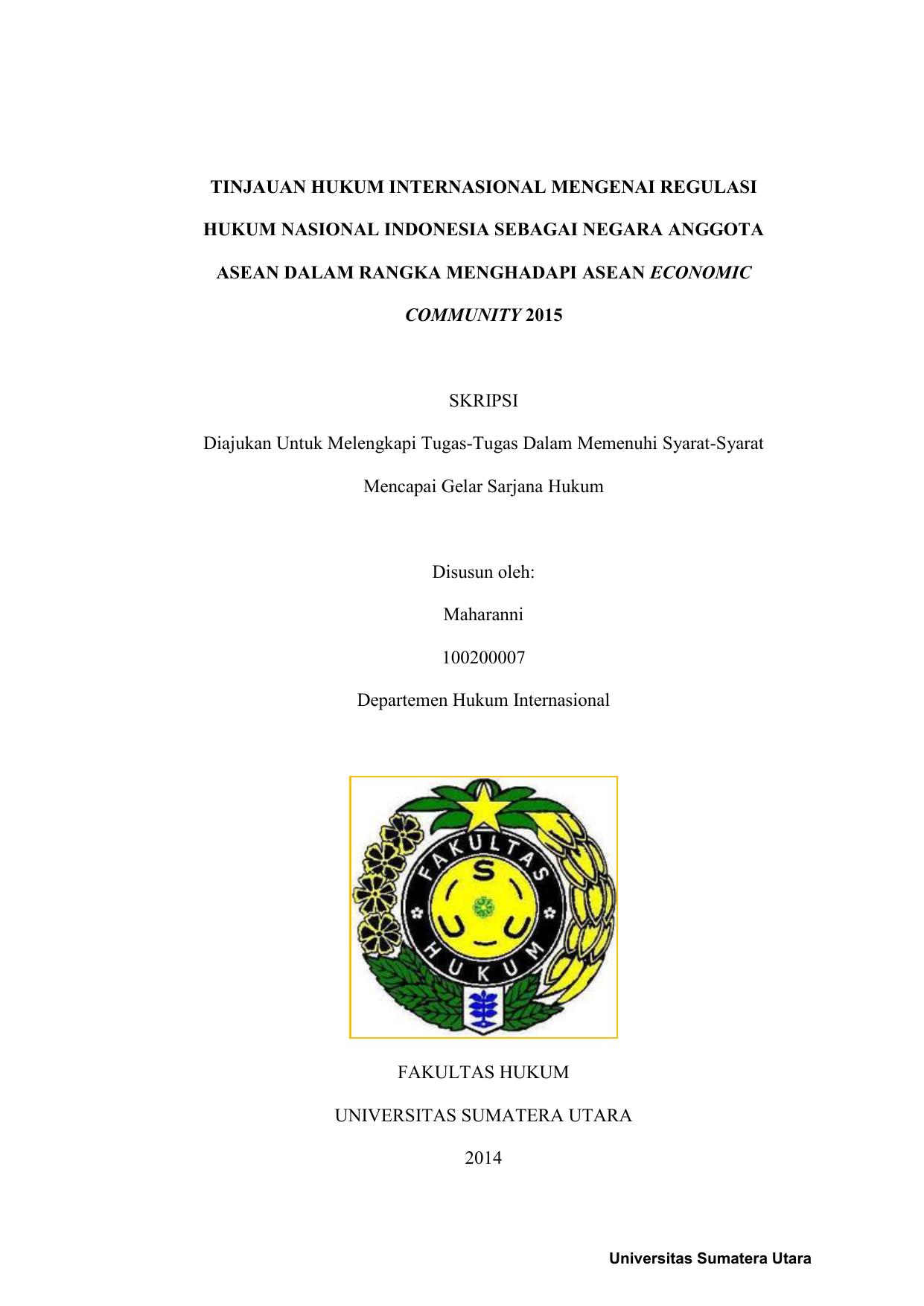 Tinjauan Hukum Internasional Mengenai Regulasi Hukum Nasional
