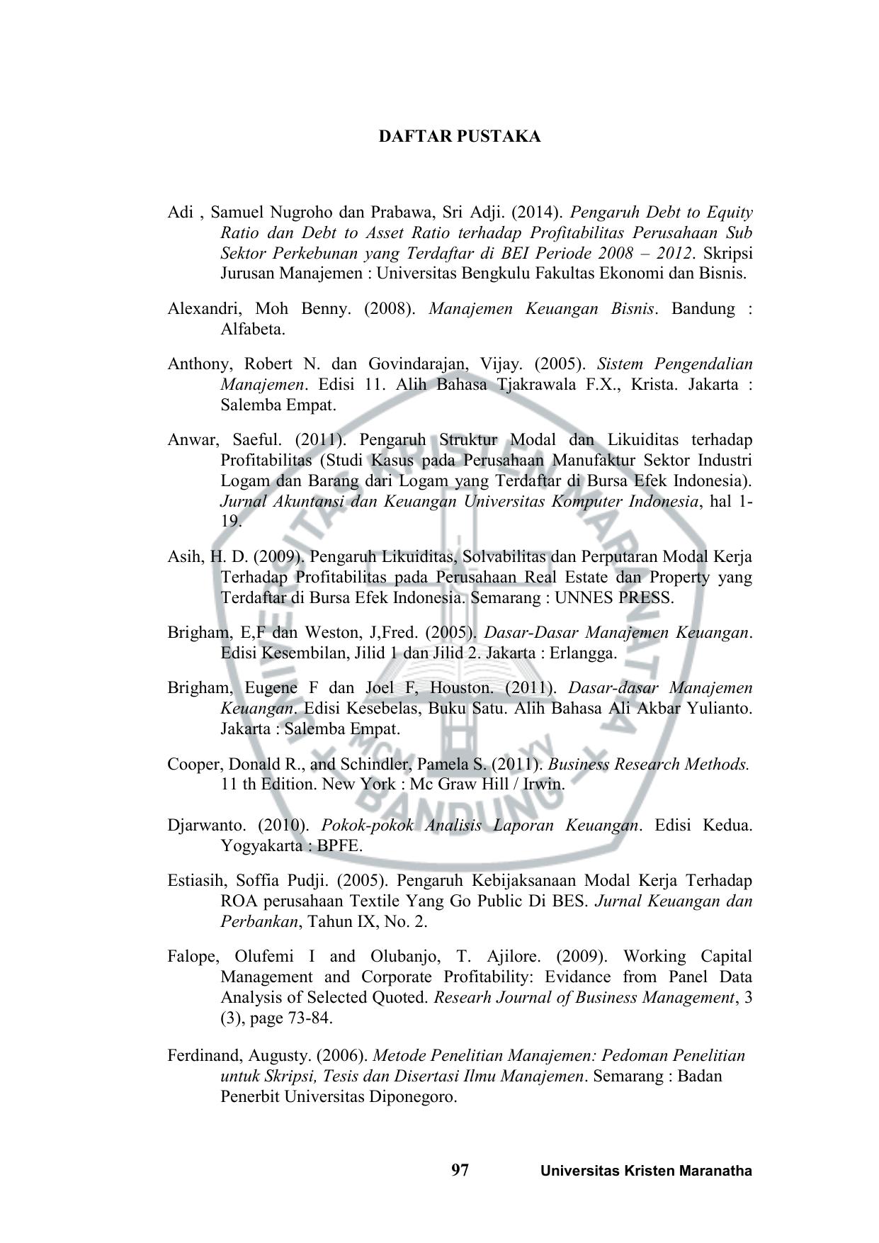 97 Daftar Pustaka Adi Samuel Nugroho Dan Prabawa Sri Adji