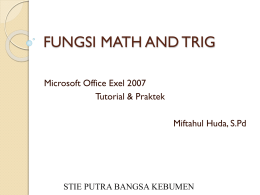 fungsi math and trig
