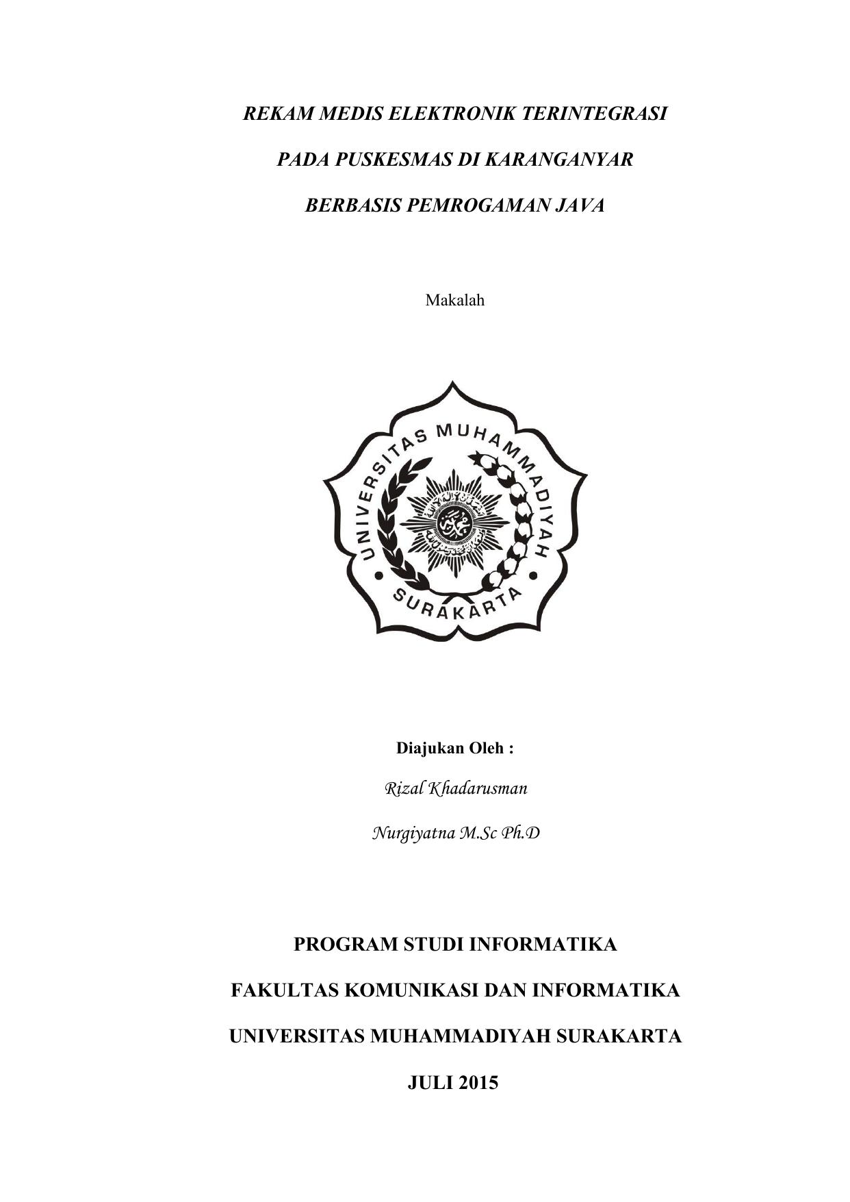 Contoh Skripsi Rekam Medis Contoh Soal Dan Materi Pelajaran 8