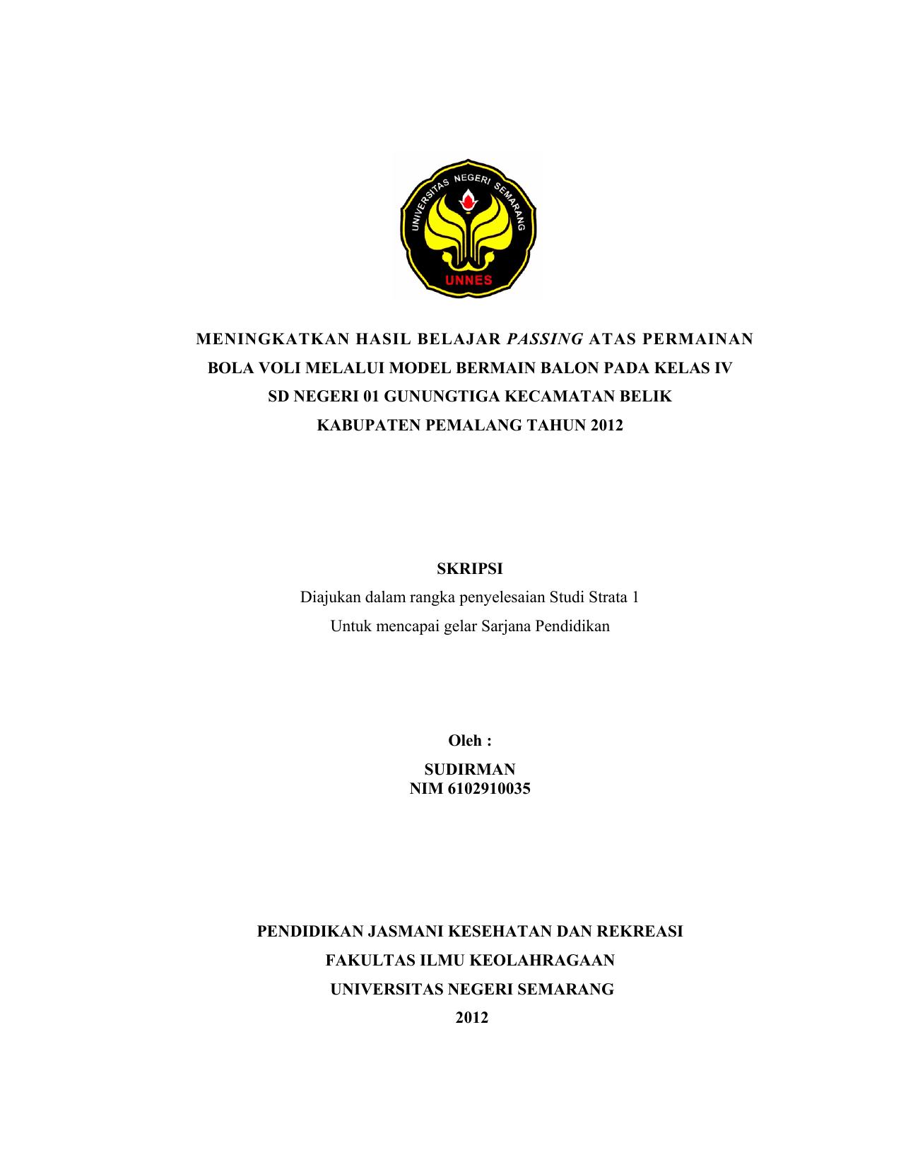 Contoh Proposal Penelitian Olahraga Bola Voli Berbagi Contoh Proposal