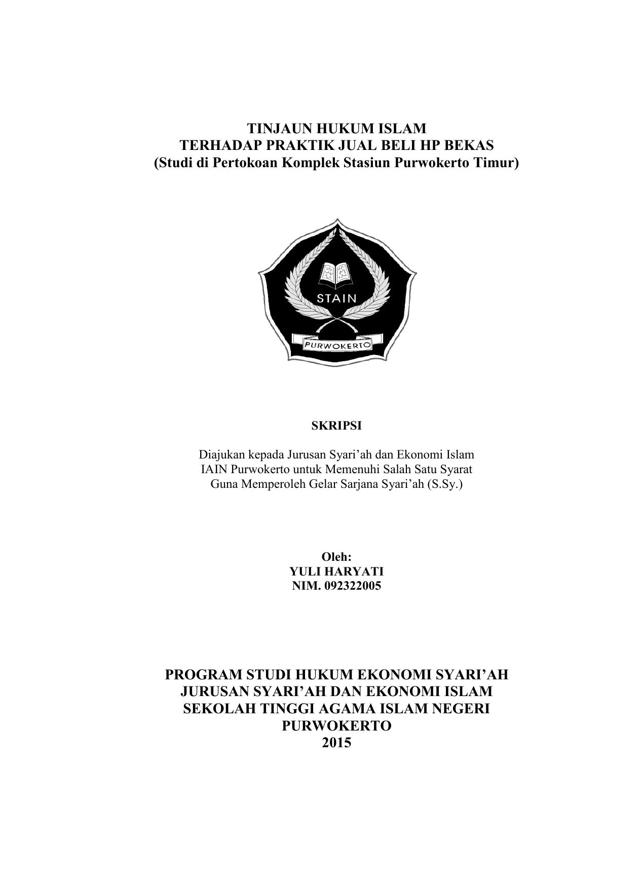 Tinjaun Hukum Islam Terhadap Praktik Jual Beli Hp