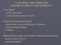 Kuliah iii titik berat dan stabilitas center of gravity dan ccuart Gallery