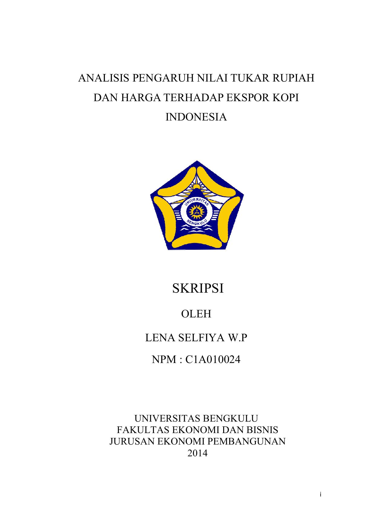 Skripsi Pdf Unib Scholar Repository