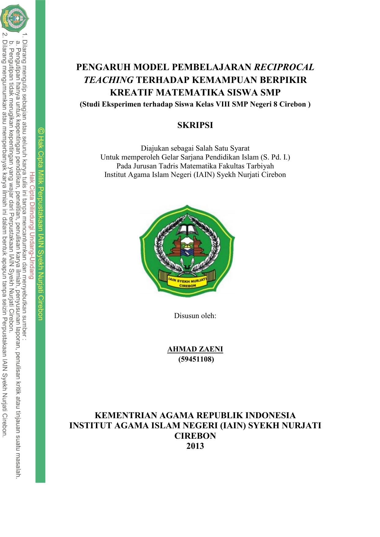 Contoh Proposal Skripsi Pendidikan Matematika Pdf Bagikan Contoh