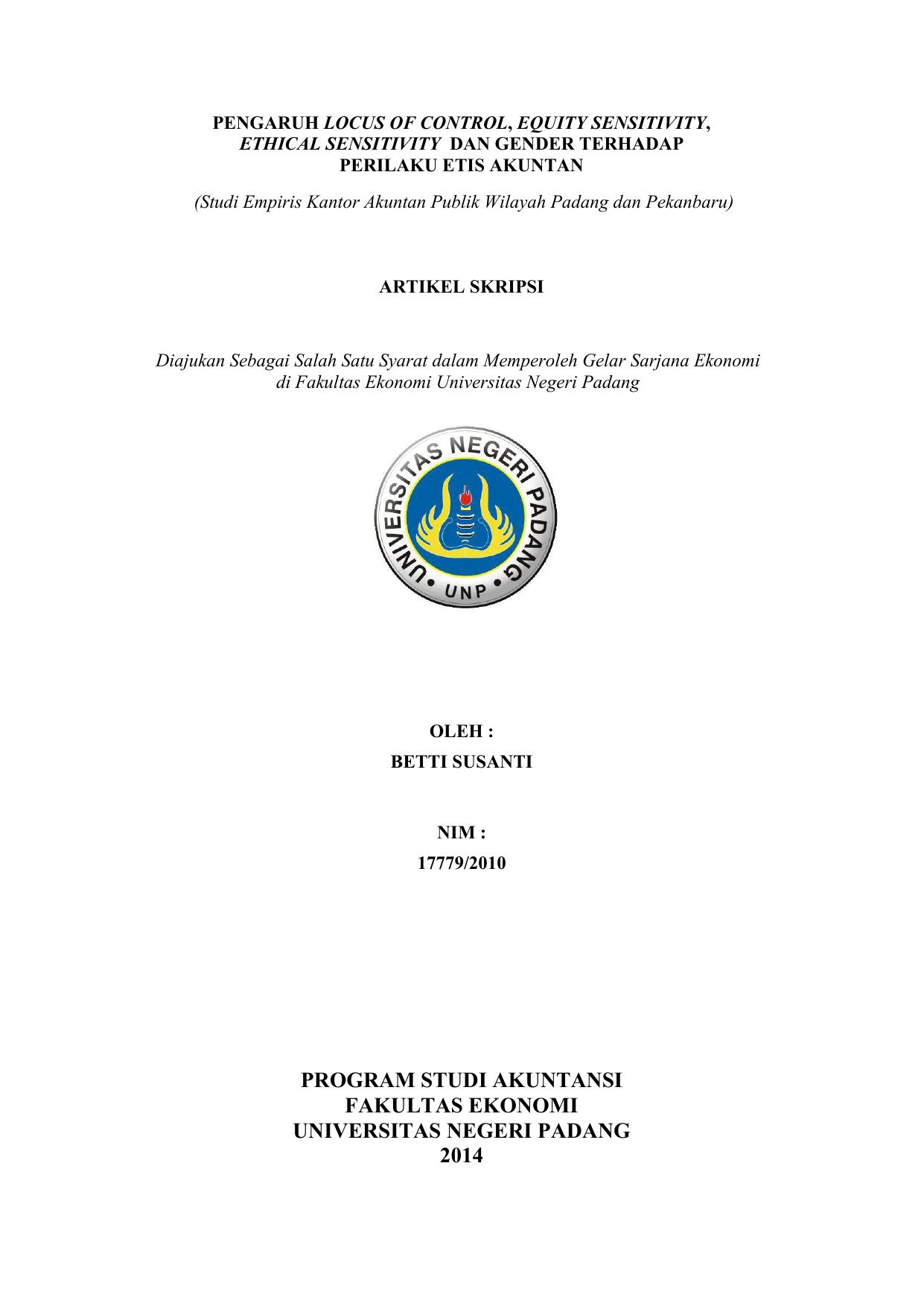 Program Studi Akuntansi Fakultas Ekonomi E