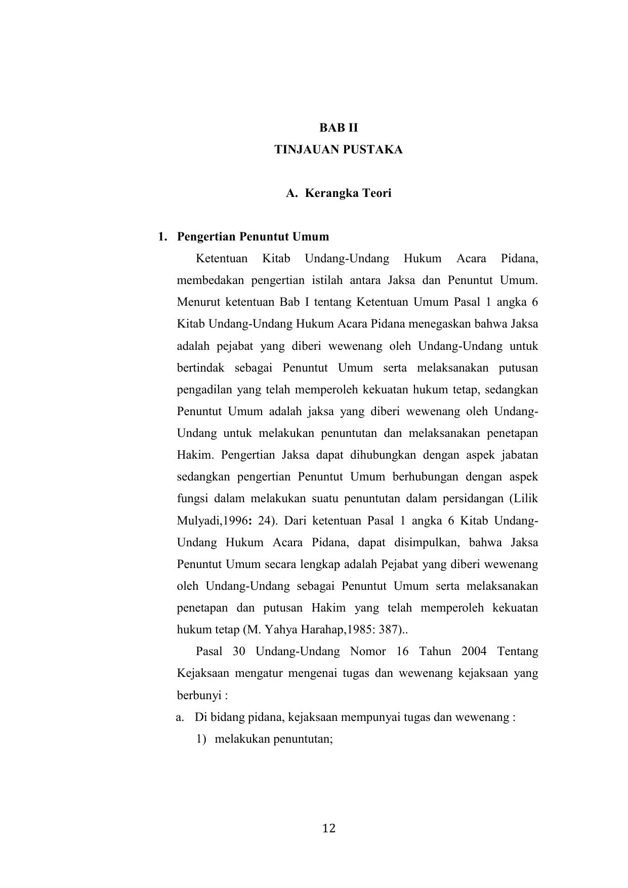 12 Bab Ii Tinjauan Pustaka A Kerangka Teori 1 Pengertian