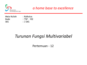 Turunan Fungsi Multivariabel