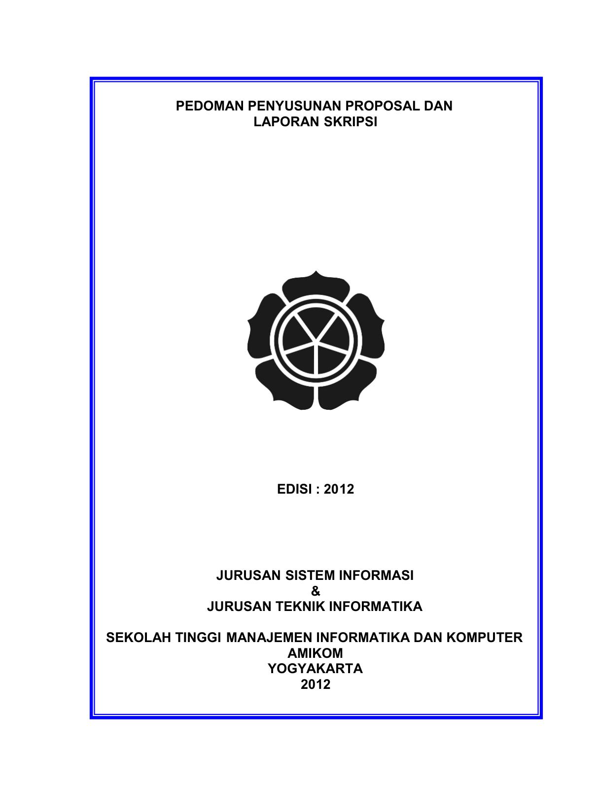 Pedoman Penyusunan Proposal Dan Laporan Skripsi Edisi