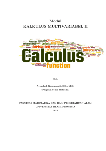 Modul KALKULUS MULTIVARIABEL II