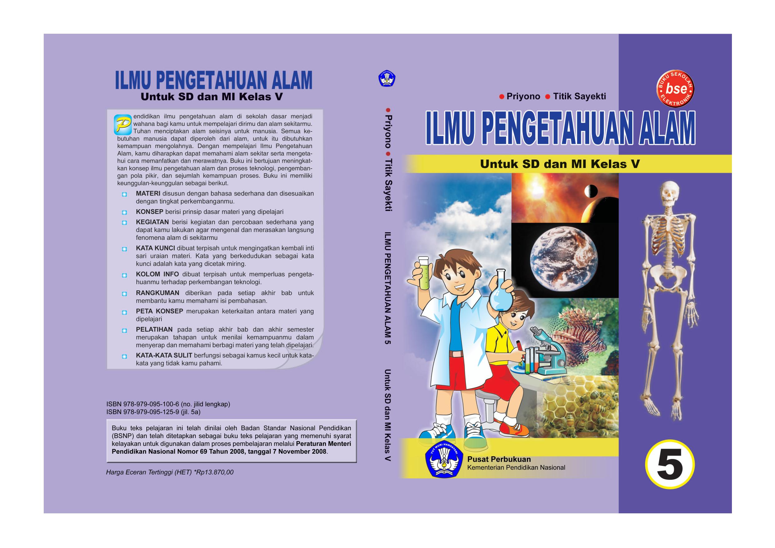 Ilmu Pengetahuan Alam 5 Kelas 5 Priyono Titik Sayekti 2010