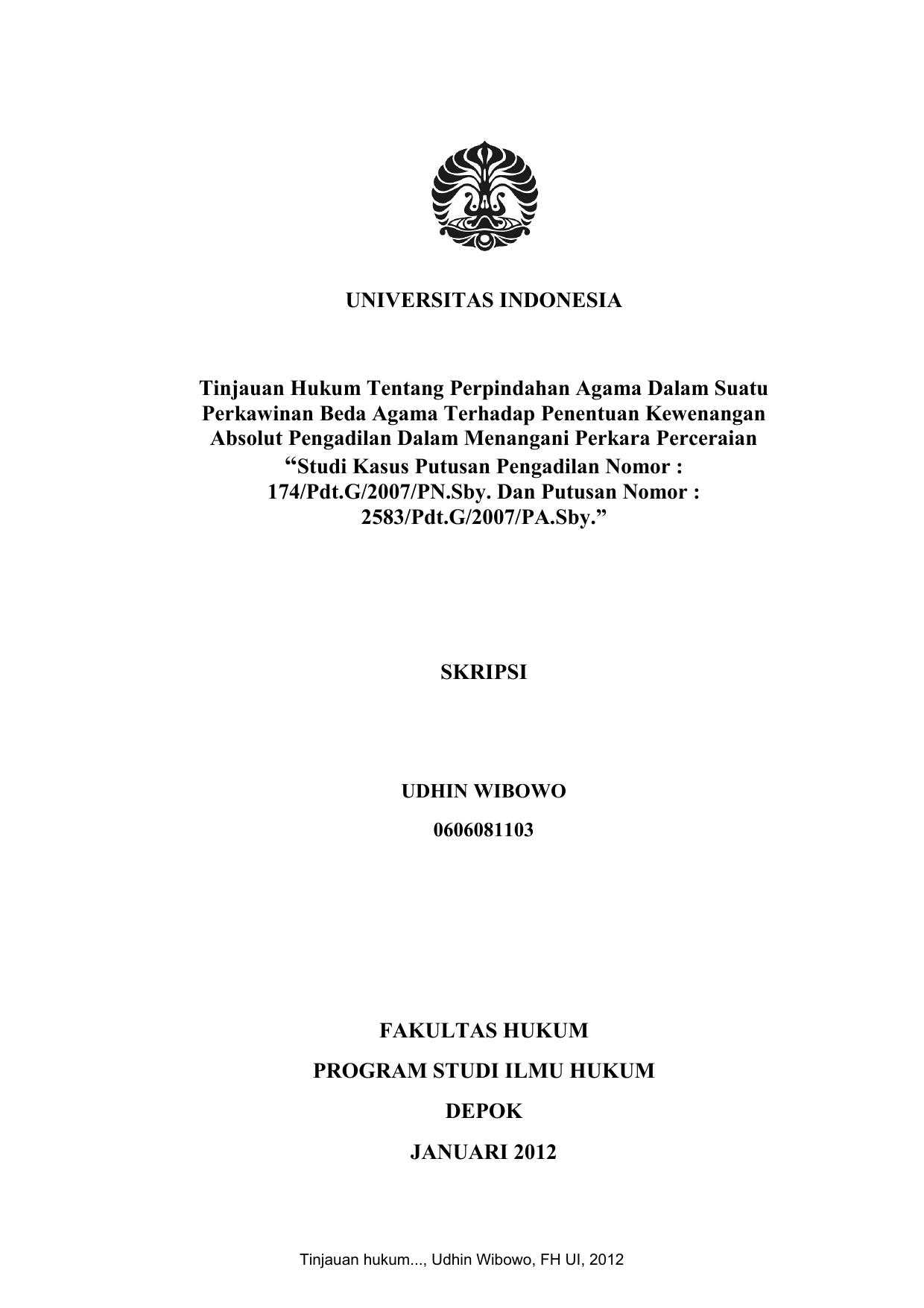 Skripsi Hukum Perdata Tentang Perkawinan Beda Agama Pejuang Skripsi
