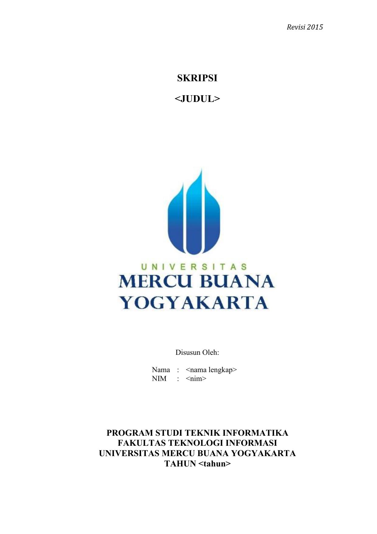 Skripsi Universitas Mercu Buana Yogyakarta