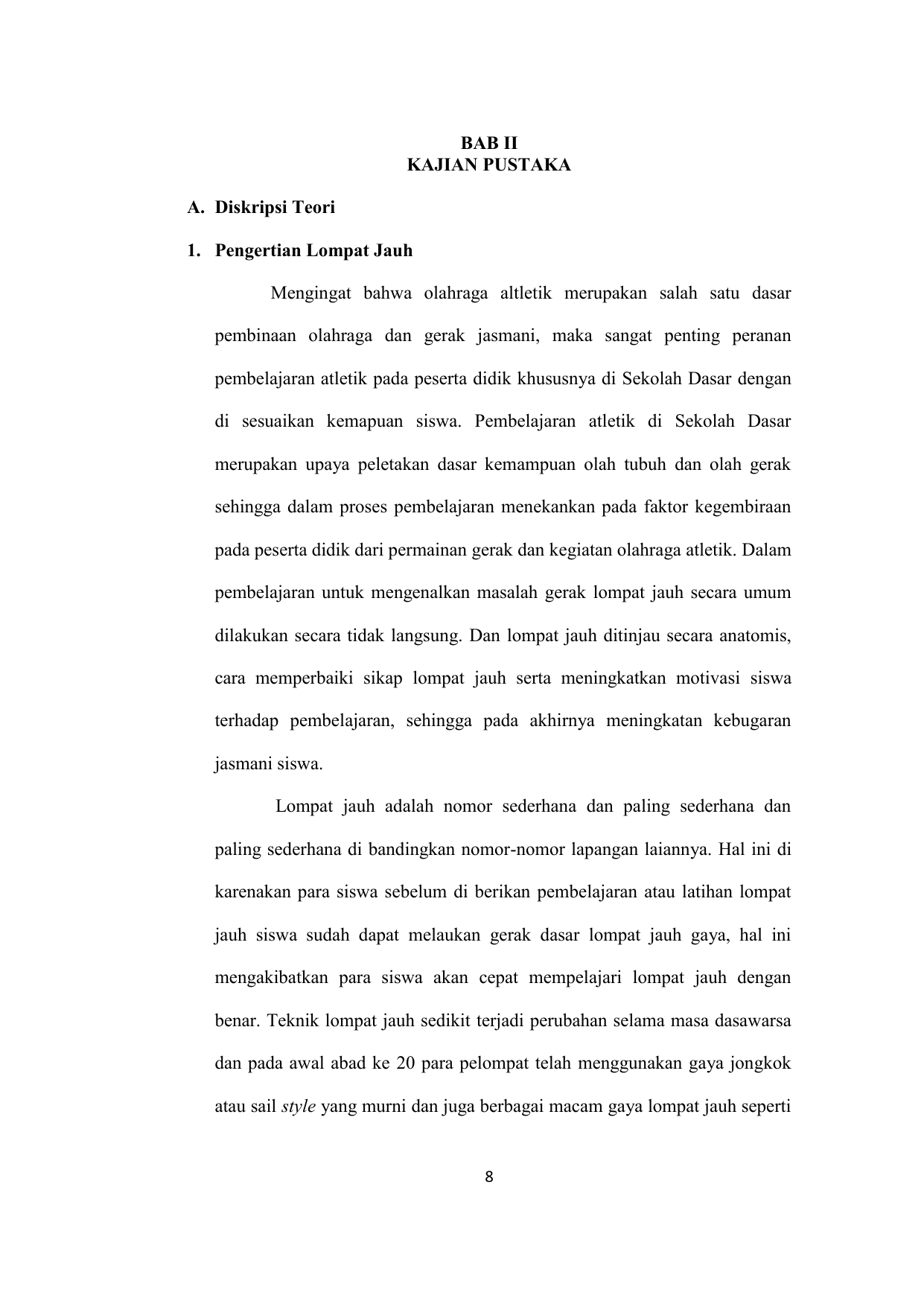 Bab Ii Kajian Pustaka A Diskripsi Teori 1 Pengertian Lompat