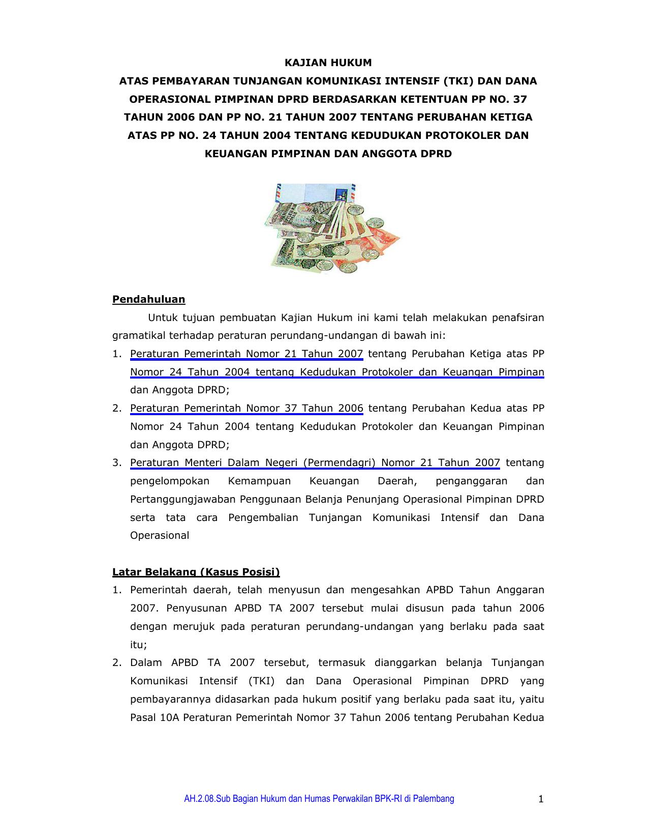 AH.2.08.Sub Bagian Hukum dan Humas Perwakilan BPK