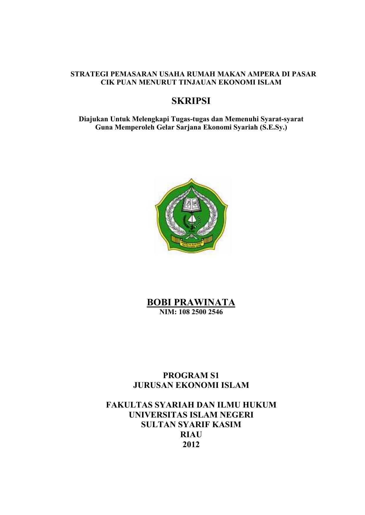 Skripsi Bobi Prawinata Repository Uin Suska