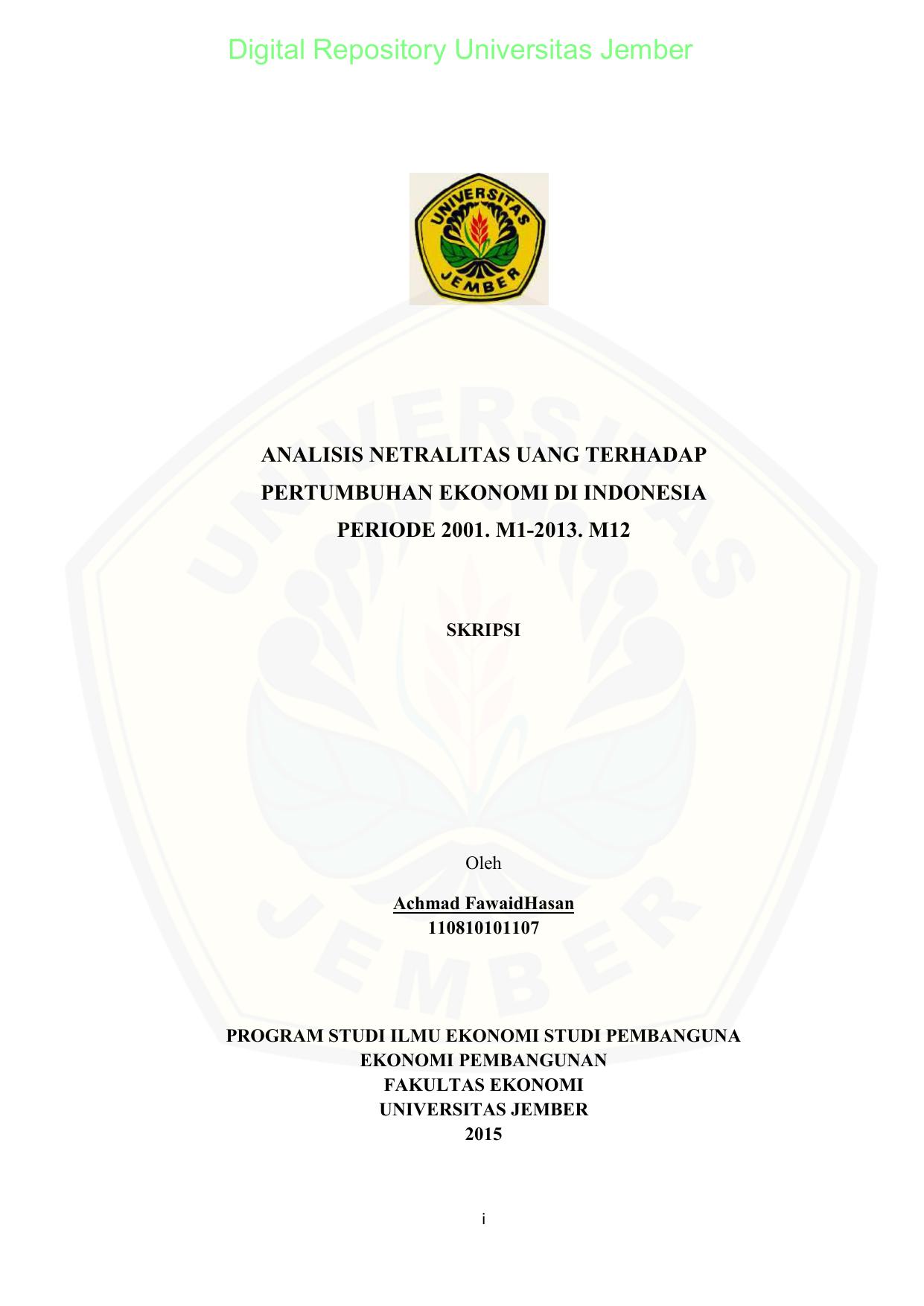 Contoh Skripsi Ekonomi Pembangunan Konsentrasi Industri Pejuang Skripsi
