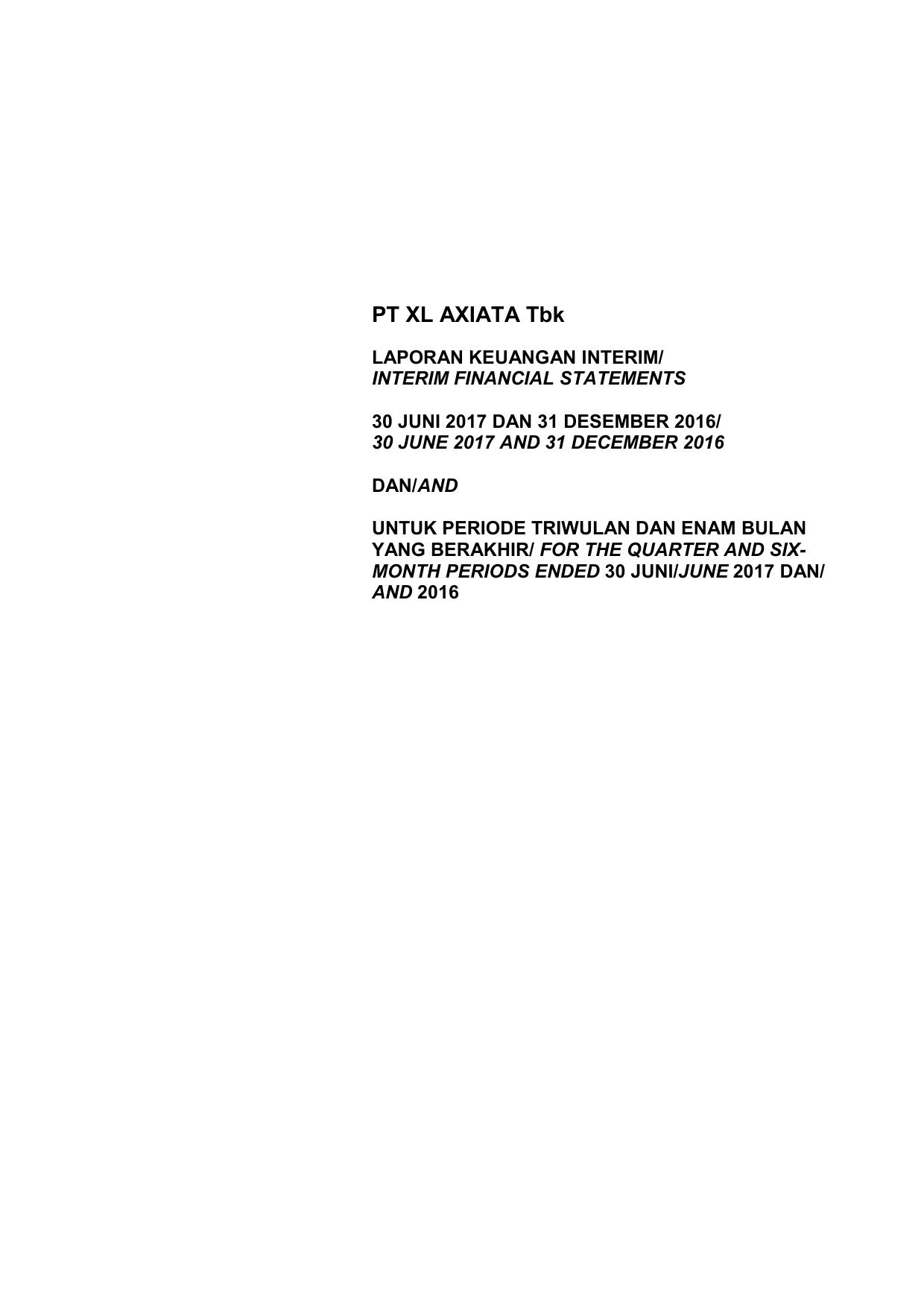Pt Xl Axiata Tbk