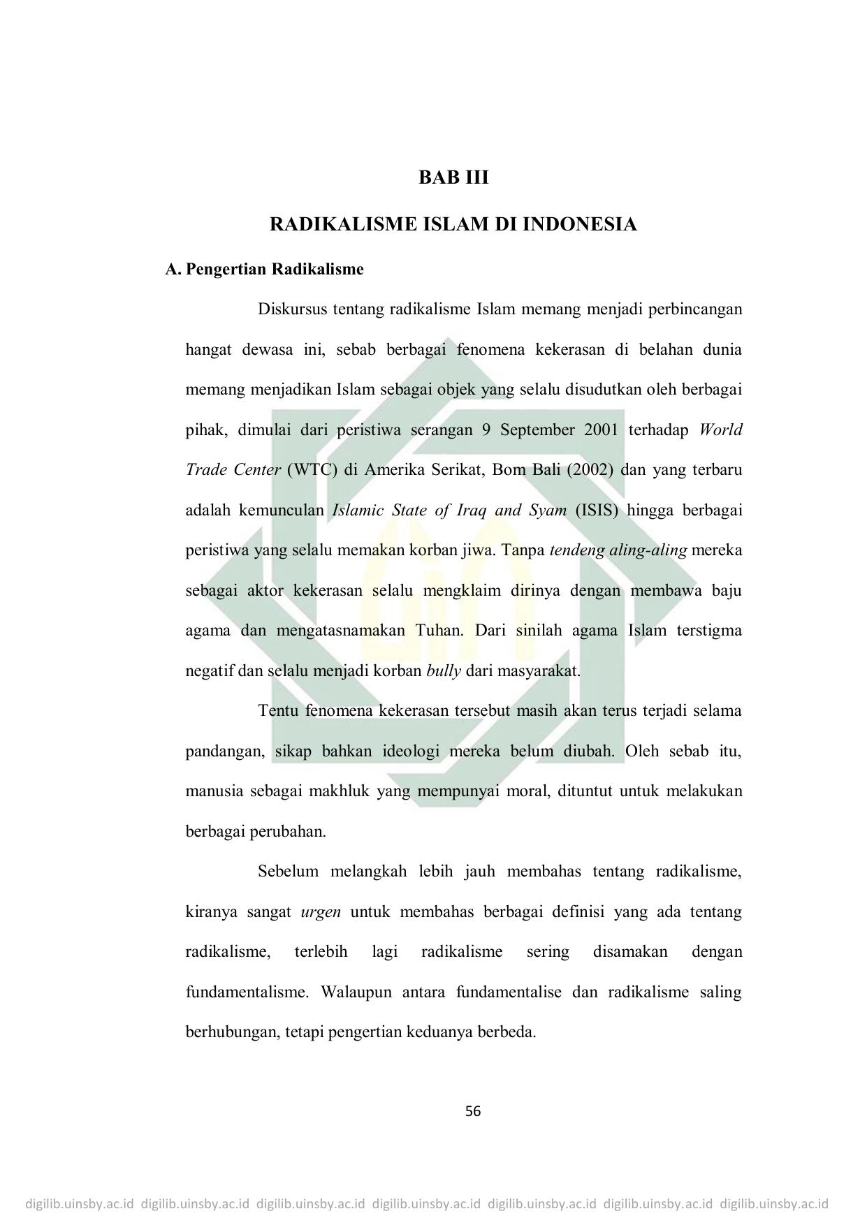 Pengertian Radikalisme Di Indonesia