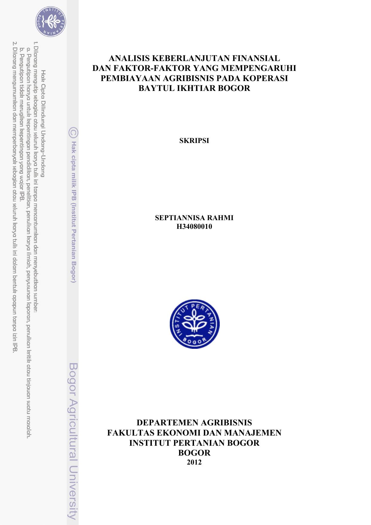 Skripsi Analisis Kinerja Keuangan Pada Koperasi Simpan Pinjam Kumpulan Berbagai Skripsi