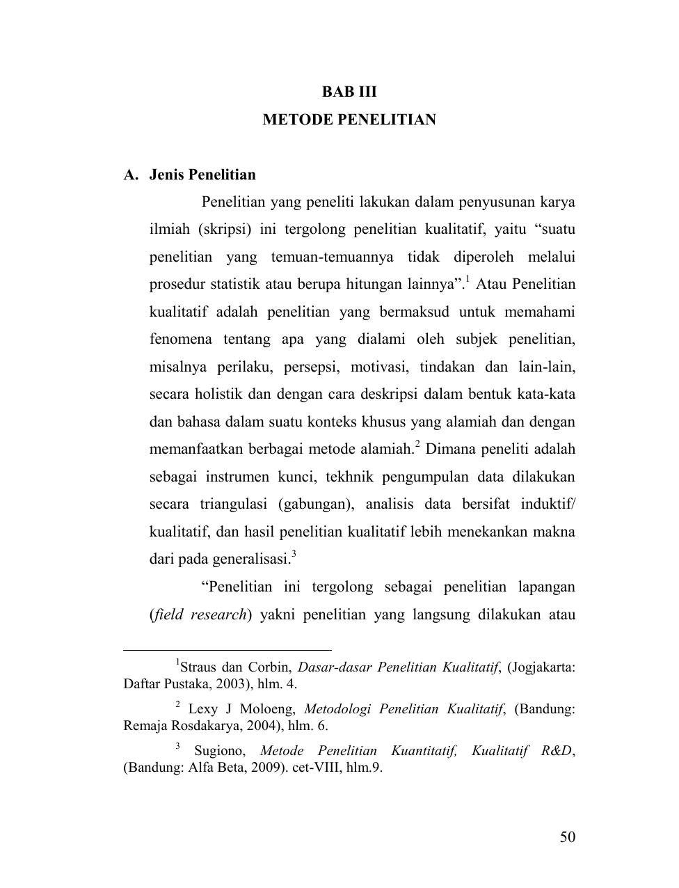 50 Bab Iii Metode Penelitian A Jenis Penelitian Penelitian