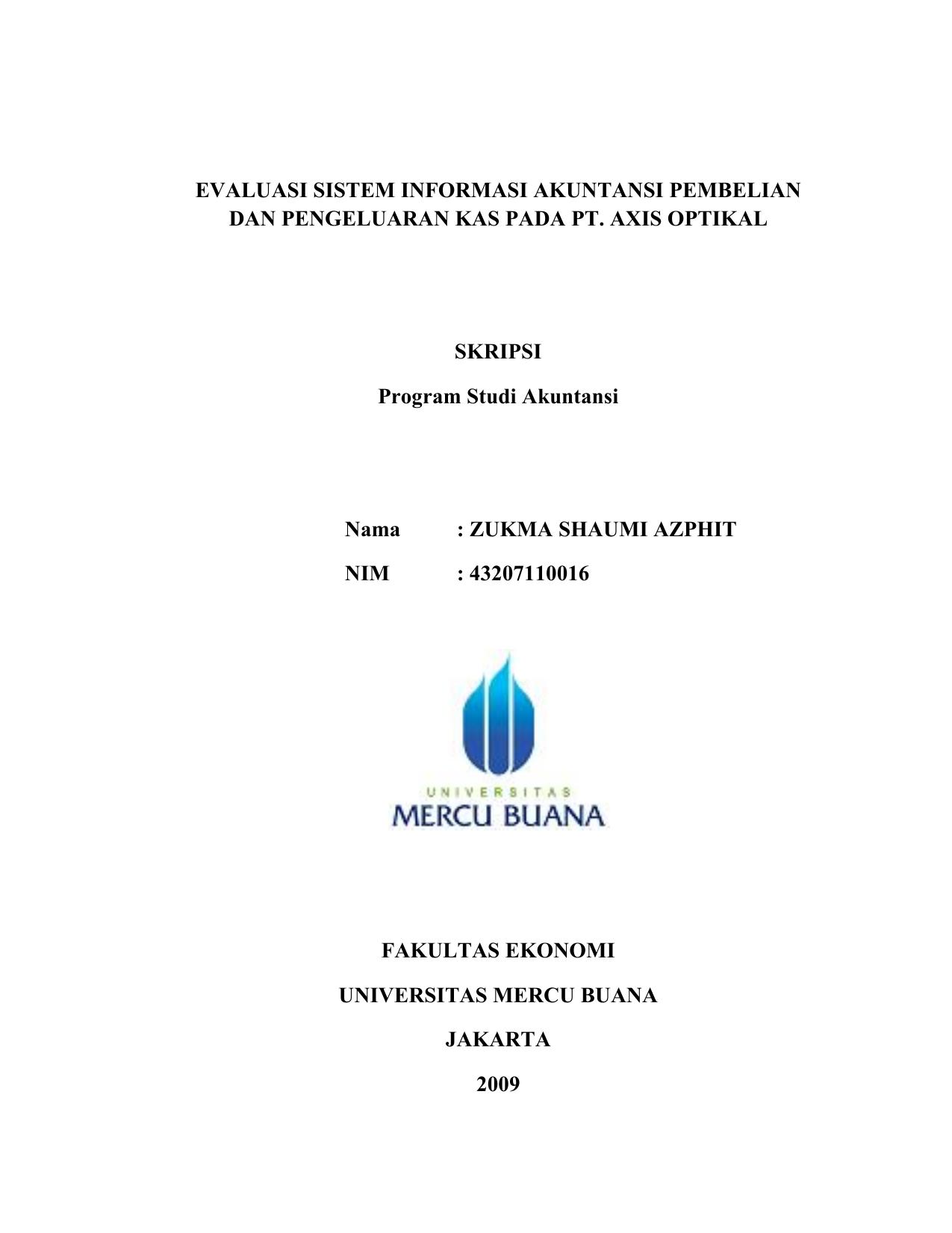Evaluasi Sistem Informasi Akuntansi Pembelian Dan