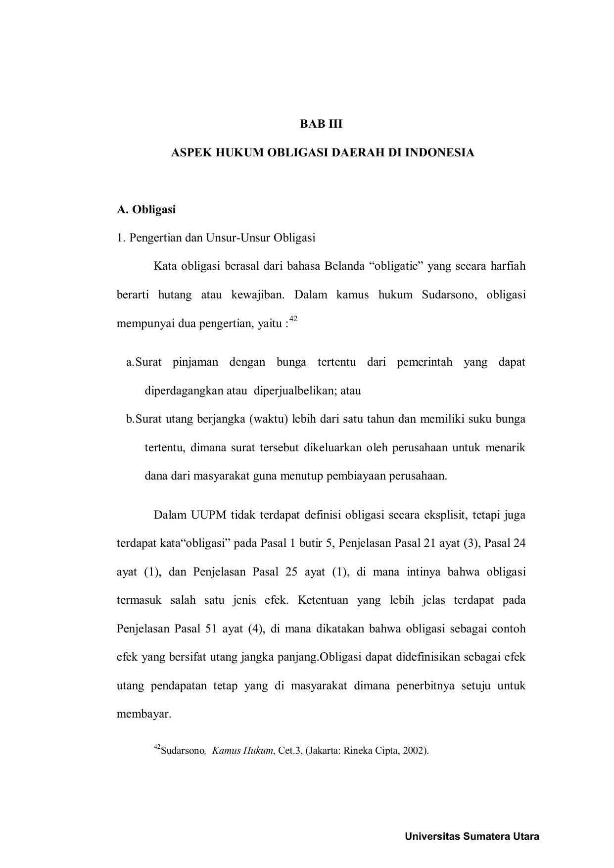 Bab Iii Aspek Hukum Obligasi Daerah Di Indonesia A