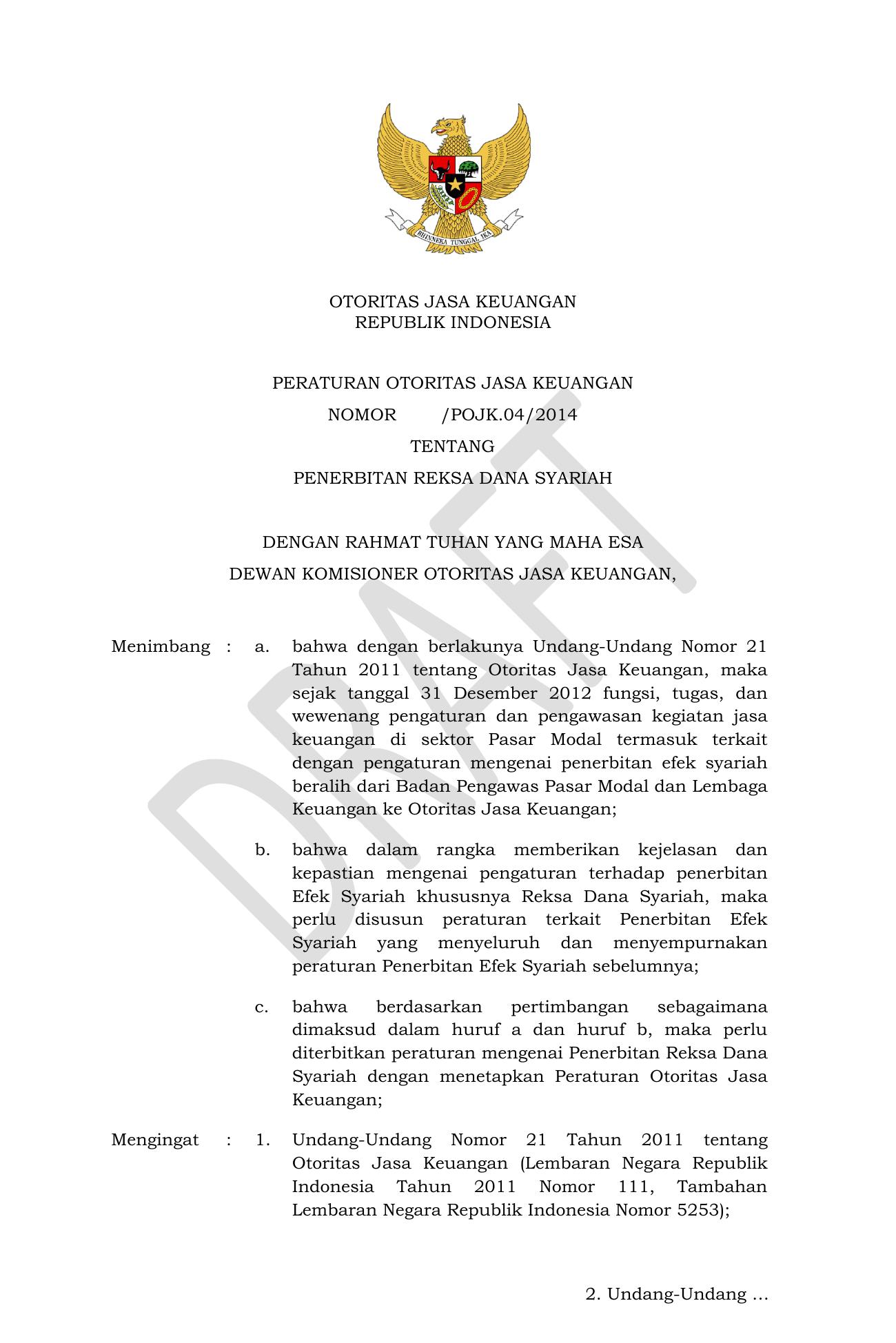 Otoritas Jasa Keuangan Republik Indonesia