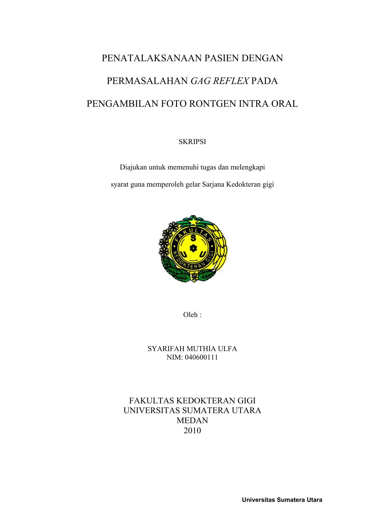 Fakultas Kedokteran Gigi Universitas Sumatera Utara