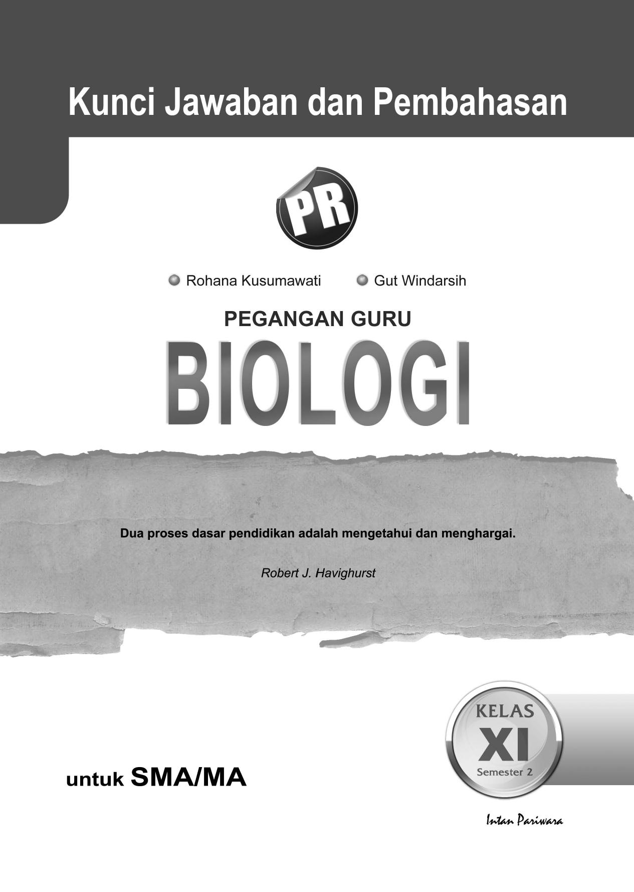 Kunci Jawaban Biologi 11b