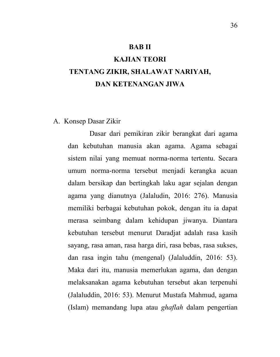 36 Bab Ii Kajian Teori Tentang Zikir Shalawat Nariyah