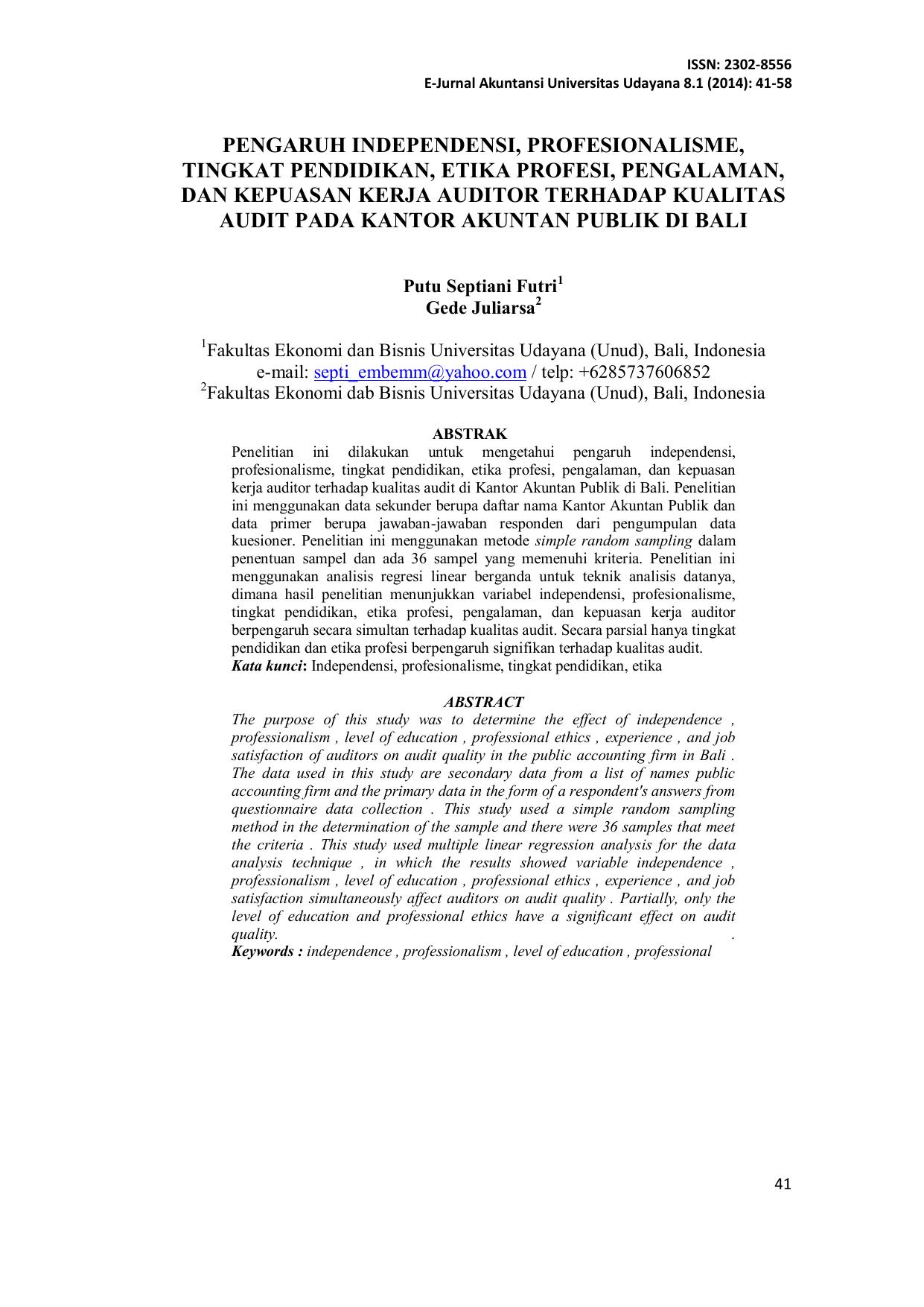 48+ Jurnal Ilmiah Audit Issn Background - GURU SD SMP SMA
