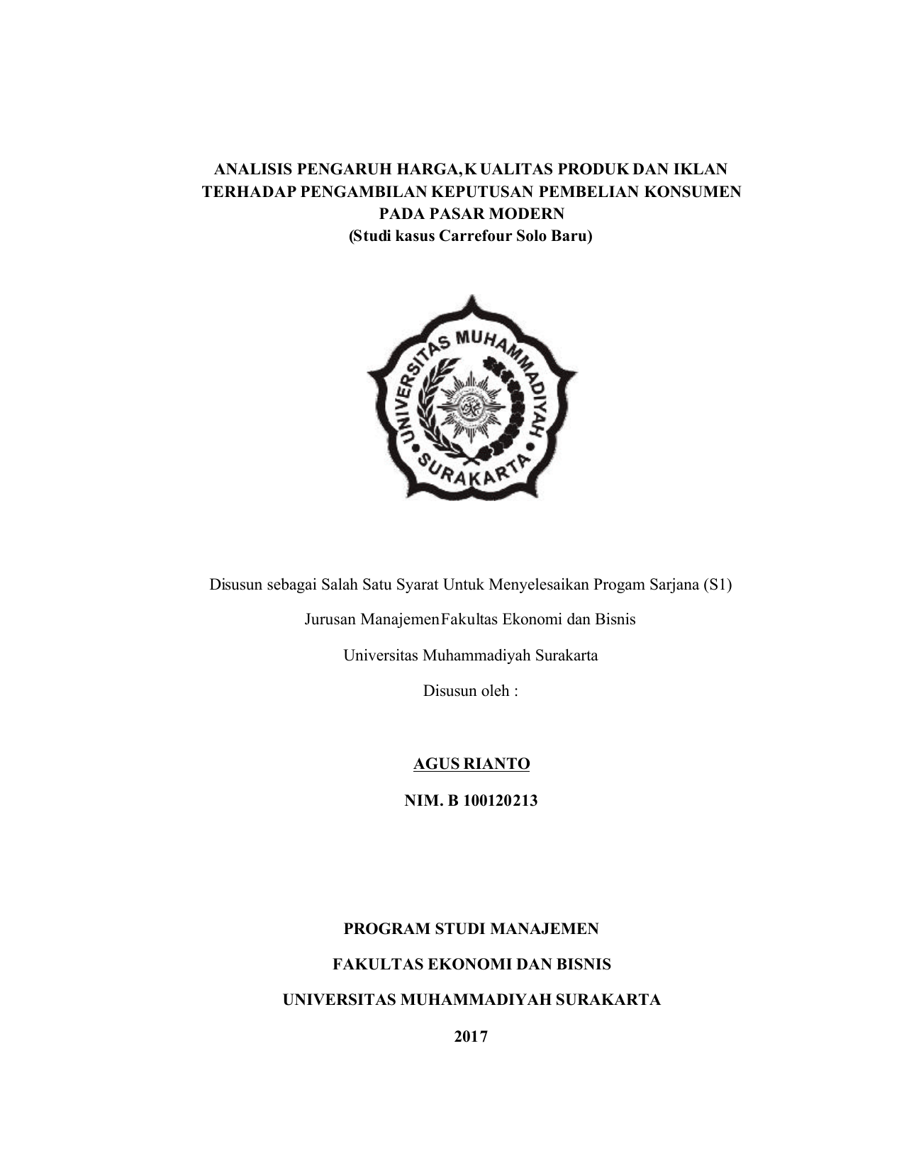 Naskah Publikasi Universitas Muhammadiyah Surakarta