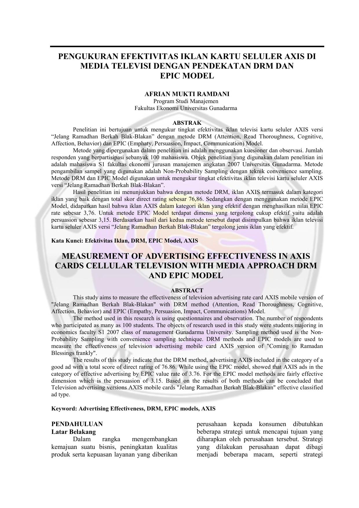 Jurnal 2 Kolom Repository Universitas Gunadarma