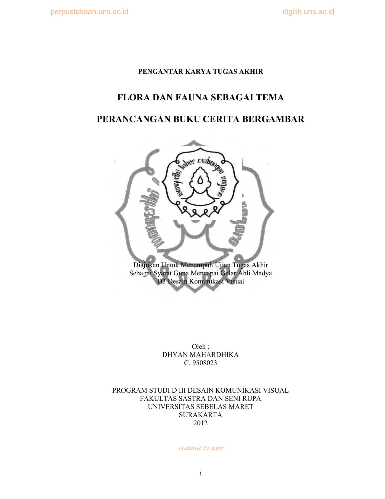 Flora Dan Fauna Sebagai Tema Perancangan Buku Cerita Bergambar