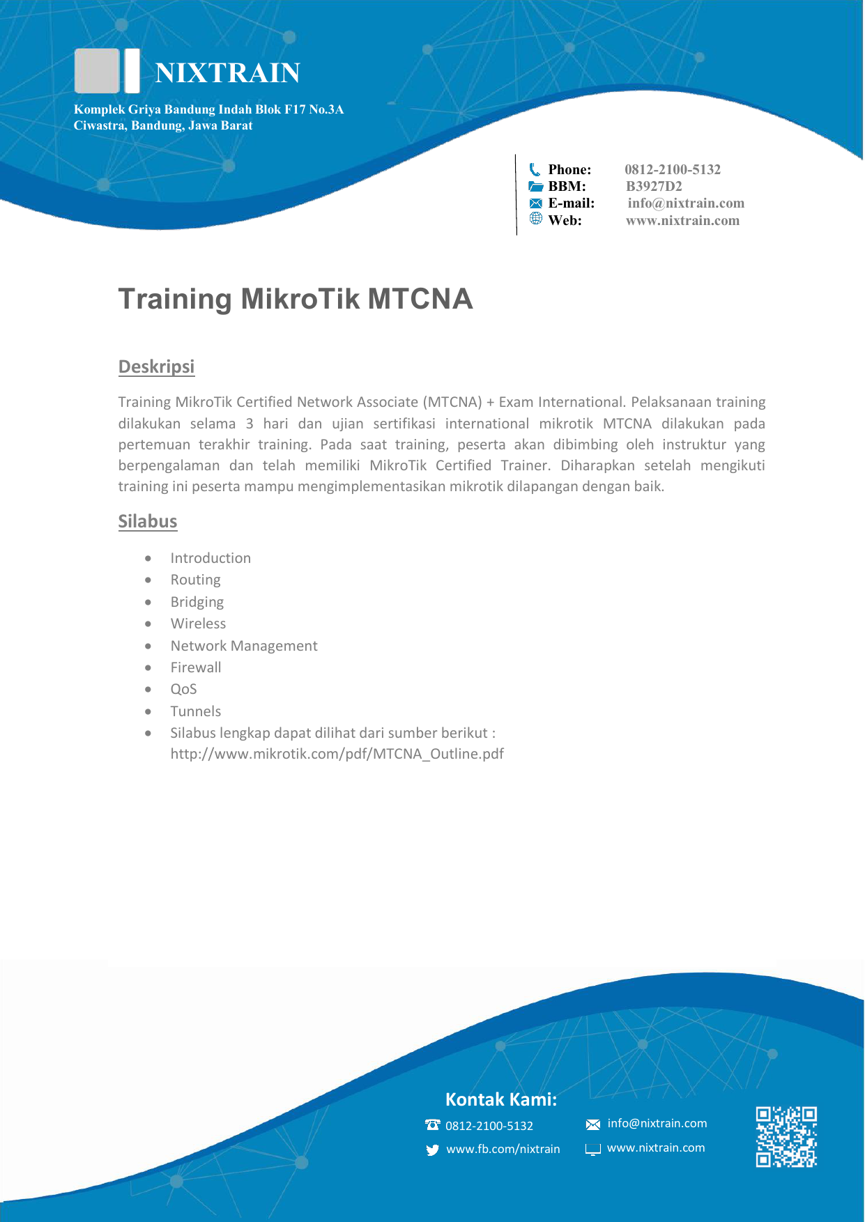 silabus-training-mtcna-fasttrack-nixtrain